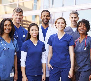 nurses smiling