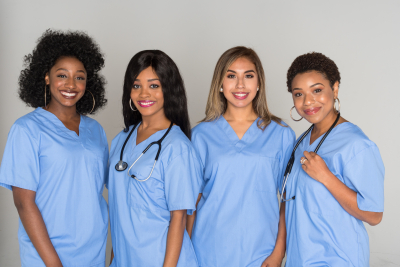 group of female nurses